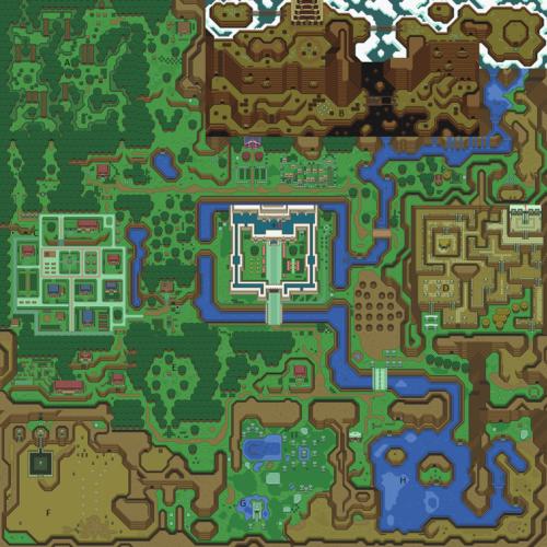 A Link to the Past : Carte du monde de la lumière
