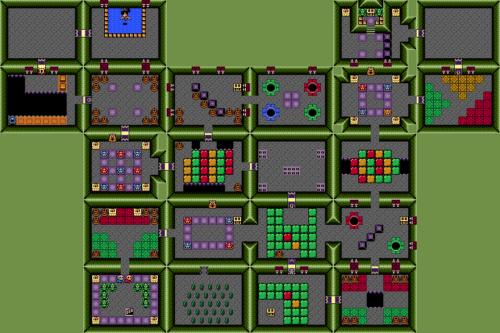 Link's Awakening : Carte du temple des couleurs