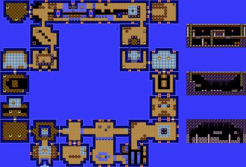 Link's Awakening : Carte de la grotte du génie