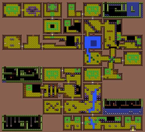 Link's Awakening : Carte du poisson-chat