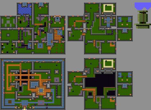 Link's Awakening : Carte de la tour du vautour