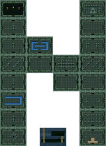 BS The Legend of Zelda : carte du niveau 1 du monde 2