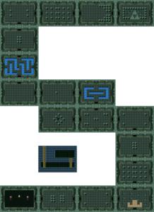 BS The Legend of Zelda : carte du niveau 1 du monde 1