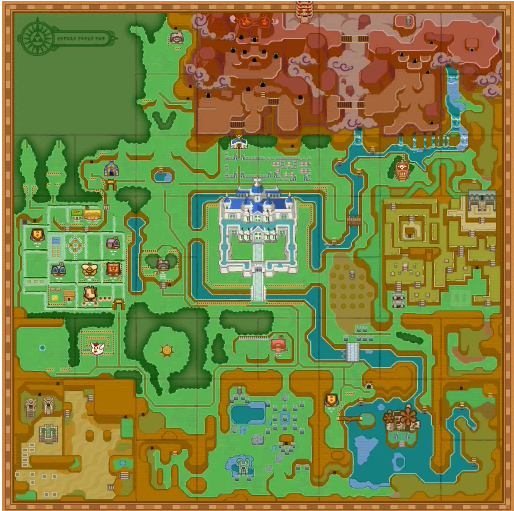 A Link Between Worlds : Carte d'Hyrule